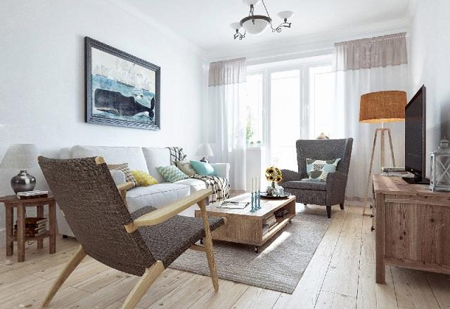 Decora o r stica e aconchegante reciclar e decorar blog for Decoracion barata pisos pequenos