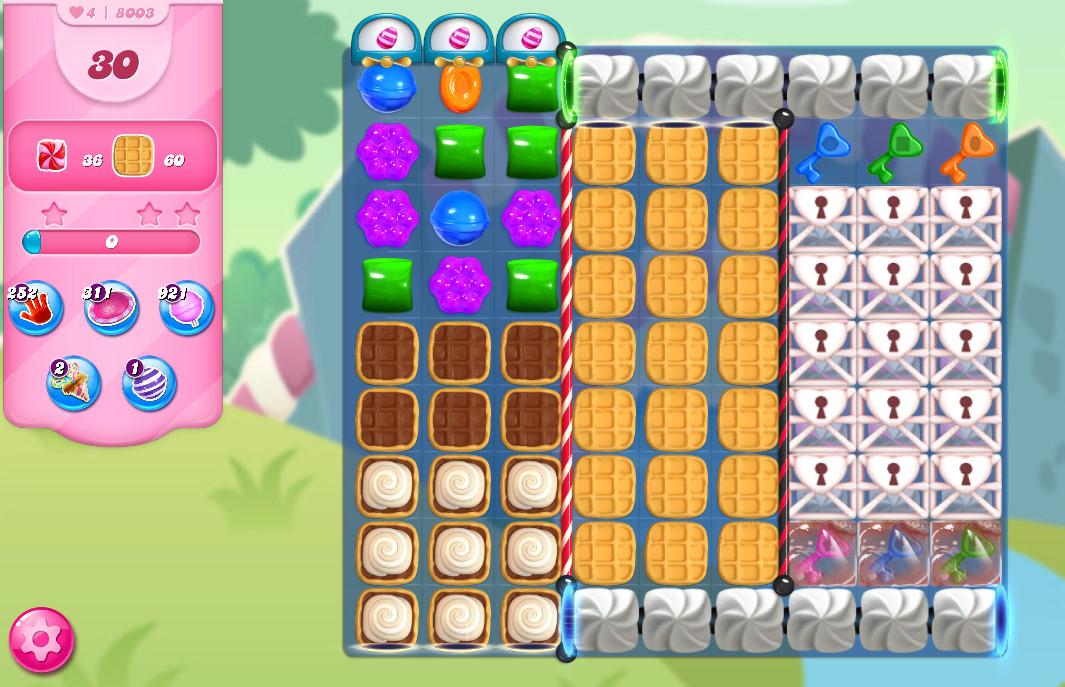 Candy Crush Saga level 8003