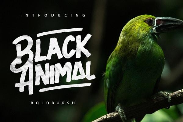 Brush font terbaik 2017 - Black Animal – Free Brush Font