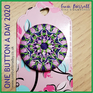 One Button a Day 2020 by Gina Barrett - Day 38 : Mandala II