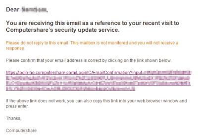 送られてくる確認リンク付きのメール