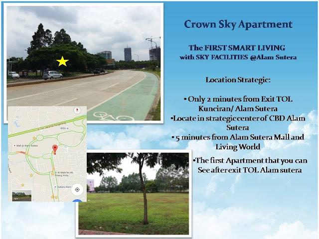 Lokasi Crown Sky Apartment Alam Sutera