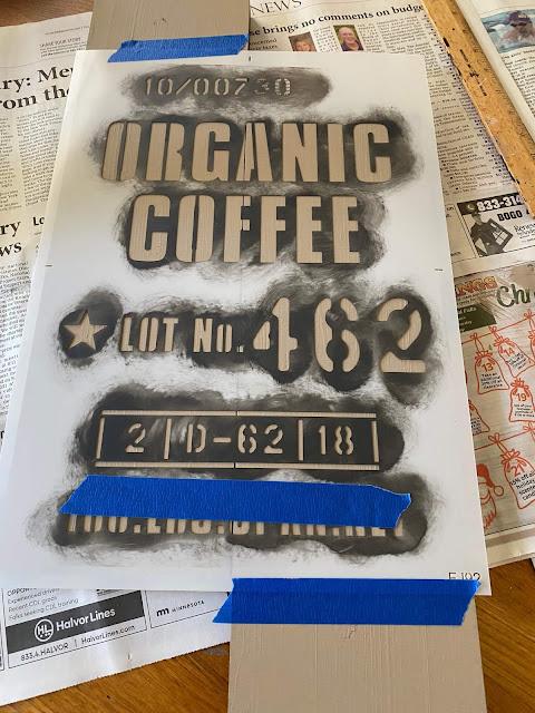 Photo of a coffee stencil