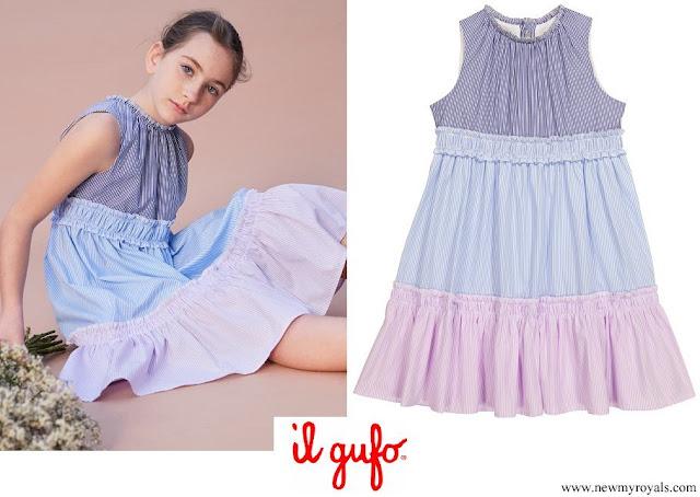 Princess Gabriella wore Il Gufo stripe-print tiered dress