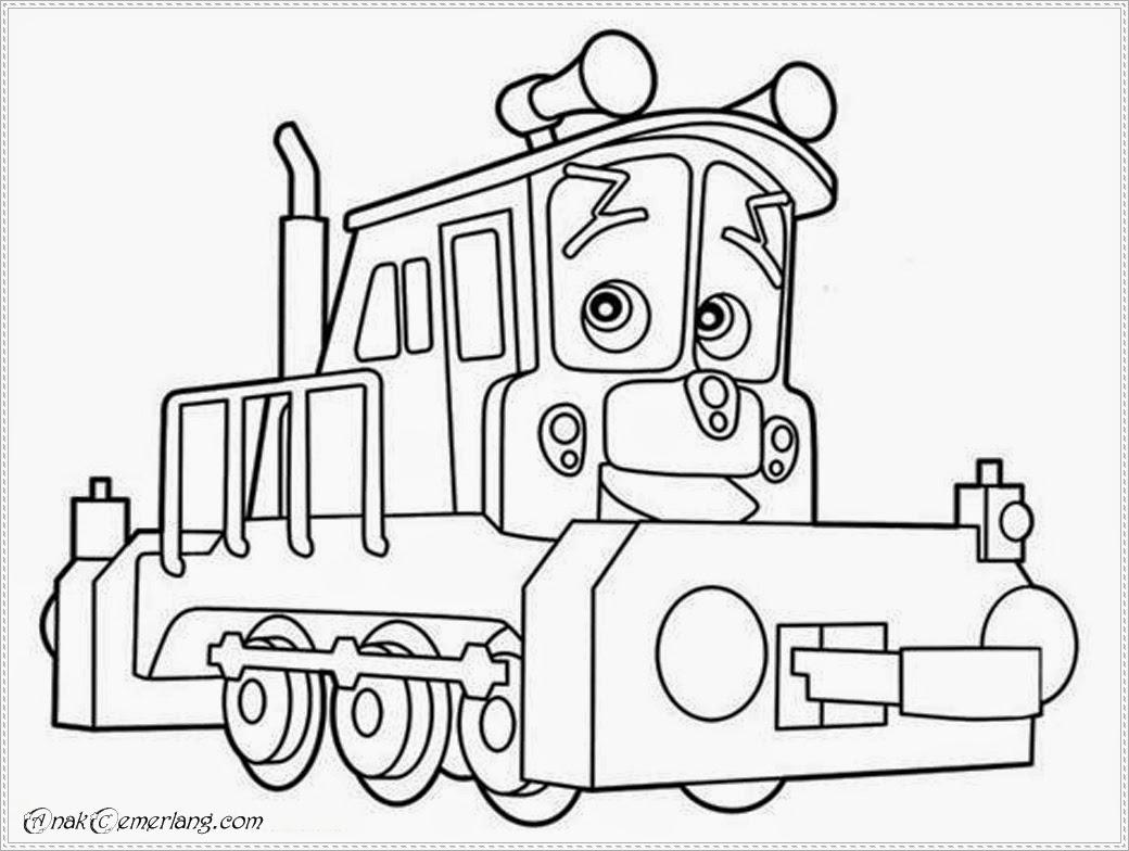 Mewarnai Kereta Chuggington  Anak Cemerlang