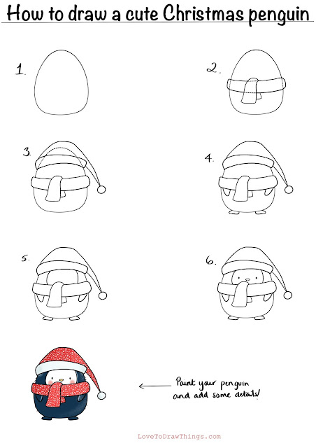 Easy Christmas drawing tutorial. Easy step by step drawing. Beginner drawing tutorial