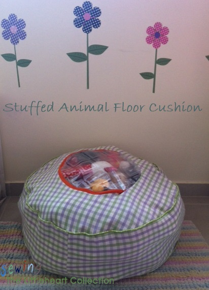 sewing the littleheart collection stuffed animal storage floor cushion. Black Bedroom Furniture Sets. Home Design Ideas