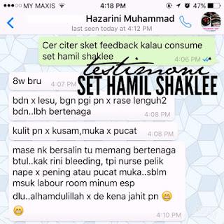 Testimoni Set Hamil Shaklee : Pengalaman Puan Hazarini