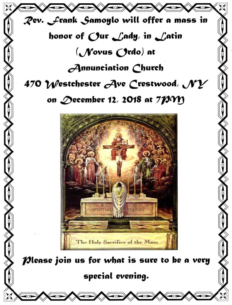 New Liturgical Movement: Our Lady of Guadalupe: Notices for