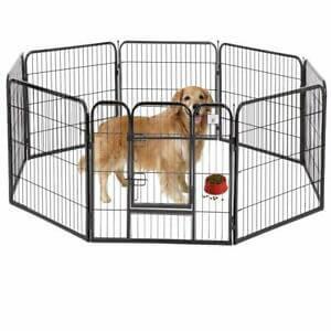 "New BestPet Black 40"" 8 Panel Heavy Duty Pet Playpen Dog Exercise Pen Cat Fence"