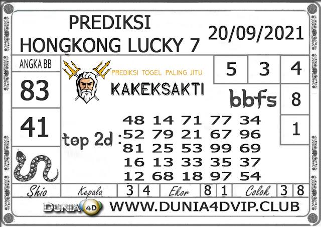 Prediksi Togel HONGKONG LUCKY 7 DUNIA4D 20 SEPTEMBER 2021