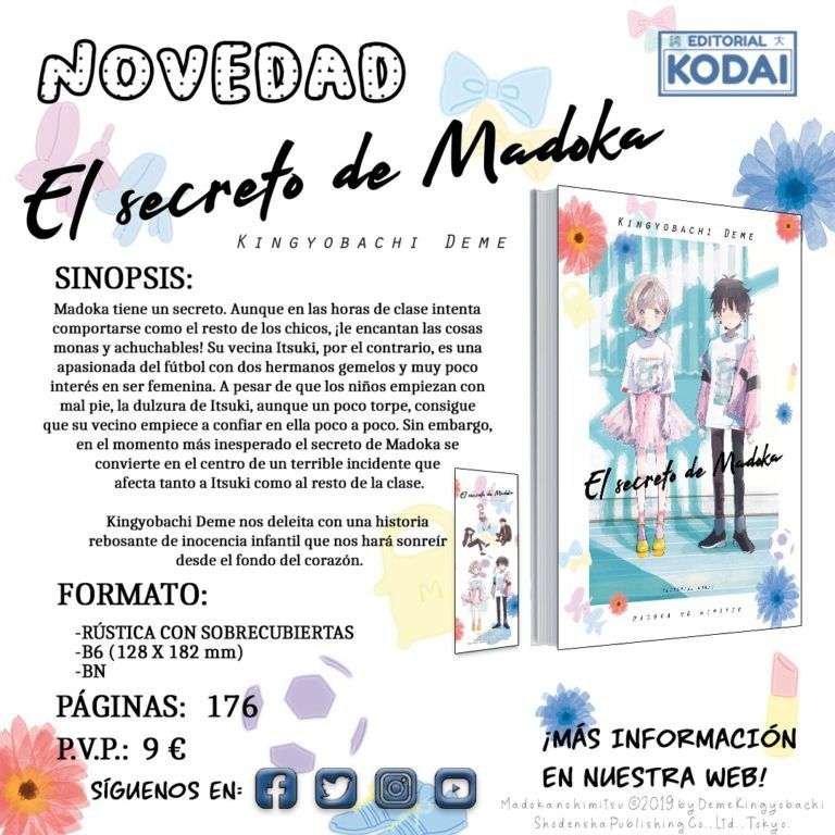 EL SECRETO DE MADOKA, la nueva obra de KODAI y que estrena a Kingyobachi Deme en España.