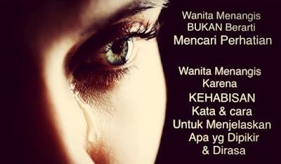 kata mutiara wanita menangis bukan mereka lemah