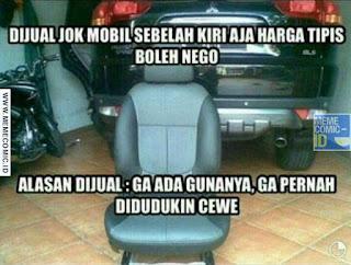 Meme Comic Indonesia terbaru Lucu jomblo mobil