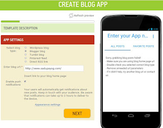 How to make free mobile App online