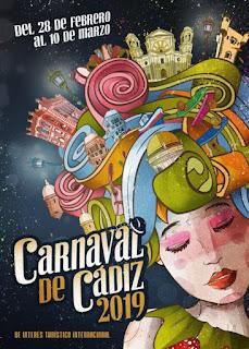 El cartel 'La Pelucádiz' anunciará el Carnaval de Cádiz 2019