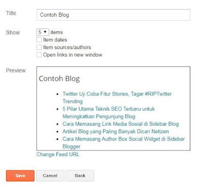 Cara Memasang Recent Post Simple di Blogger Fast Loading