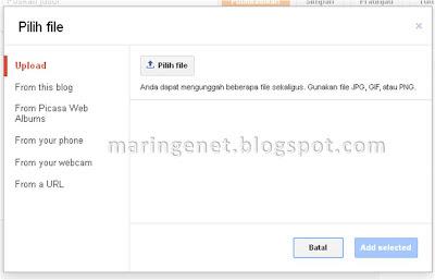 Menambahkan Gambar, Tampilan Baru Blogger