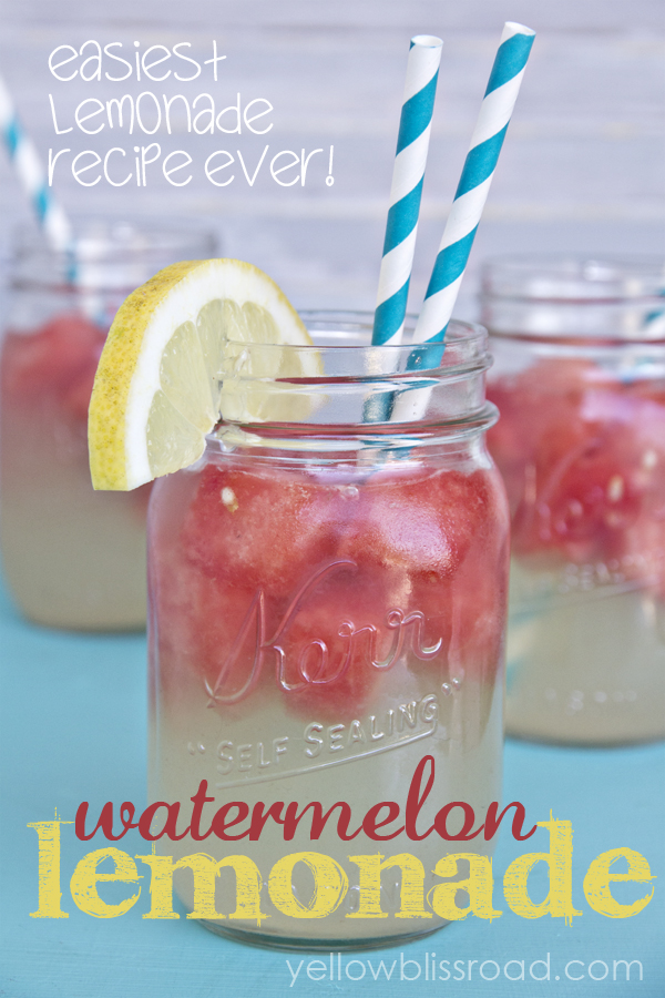 Refreshing Watermelon Lemonade and the Easiest Lemonade Recipe EVER!