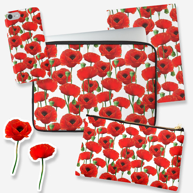 Red Poppy Pattern Gift Ideas