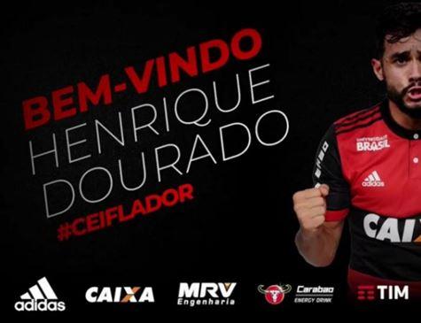 Henrique Dourado assina por quatro anos com Flamengo