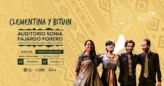 Concierto de CLEMENTINA y BITUIN en Bogotá 2019