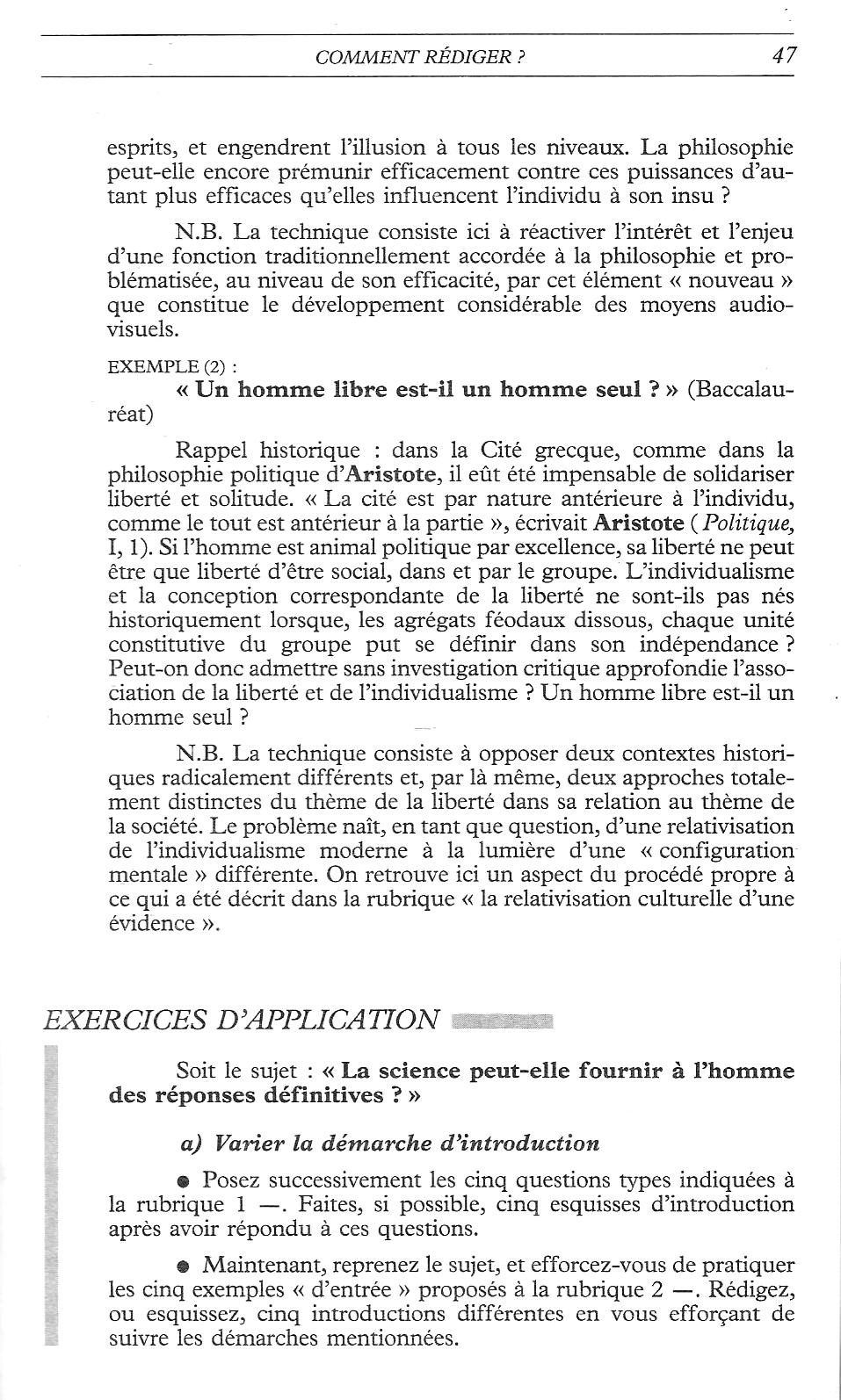 Dissertation de philo sur la liberte