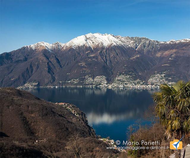 Panorama sul lago Maggiore da Centocampi