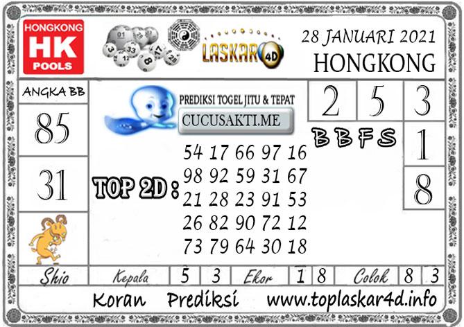 Prediksi Togel HONGKONG LASKAR4D 28 JANUARI 2021