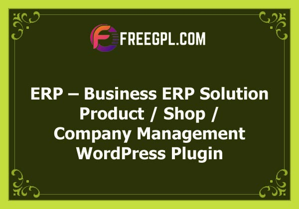 ERP – Business ERP Solution / Product / Shop / Company Management Free Download