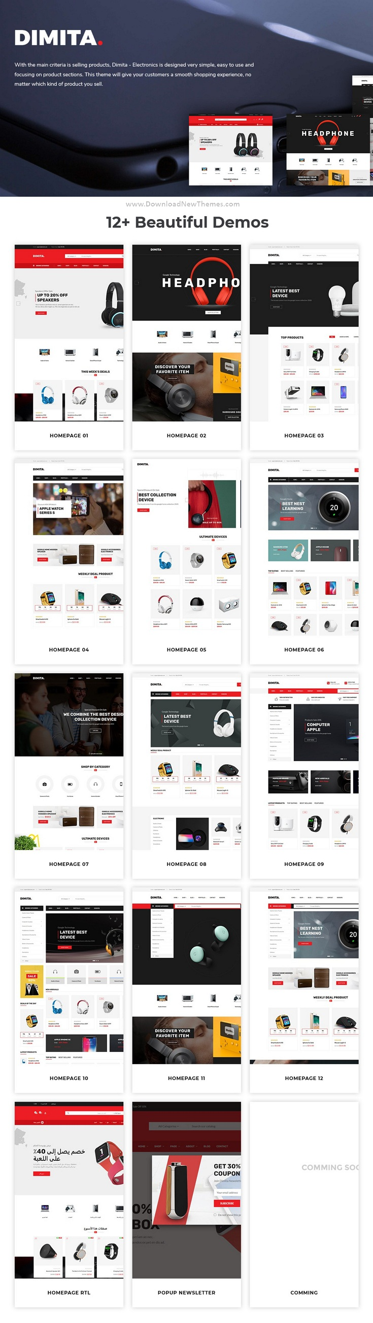 12in1 Electronics Ecommerce Store Prestahop Theme