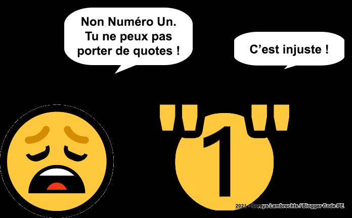 Blogger Humour - Nombre sans quote.
