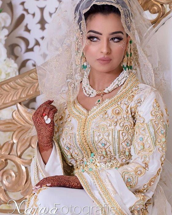 caftan blanc de mariage sur mesure paris