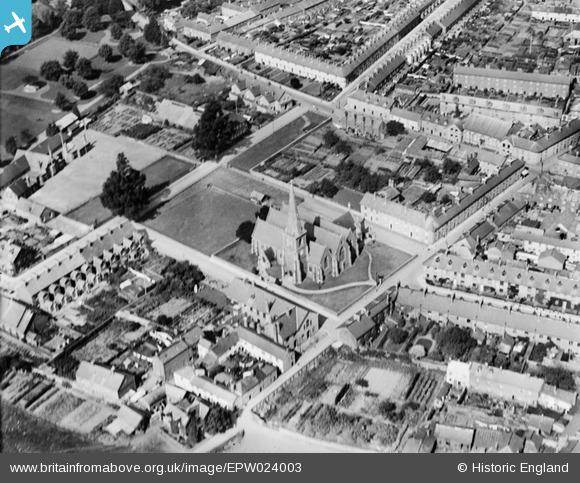 Aerial Photo of St Paul's Church 1928