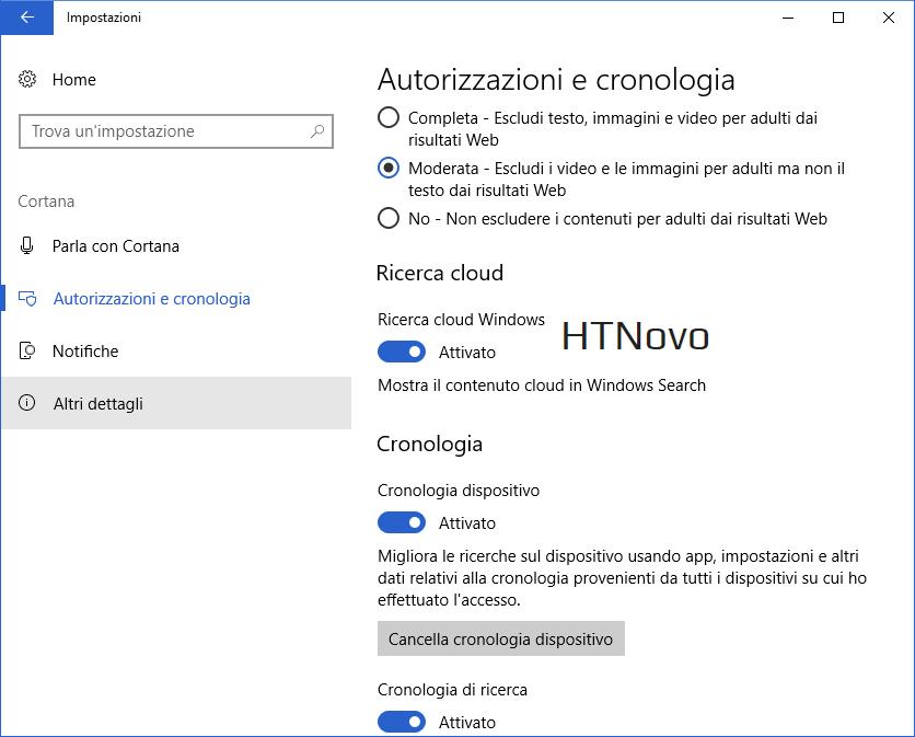 Ricerca-Cortana