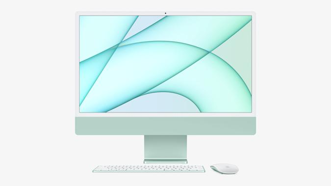The iMac 2021 with funky looks to it
