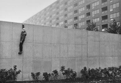 Jens S. Jensen (Swedish, born 1946). Boy on the Wall, Hammarkullen, Gothenburg. 1973