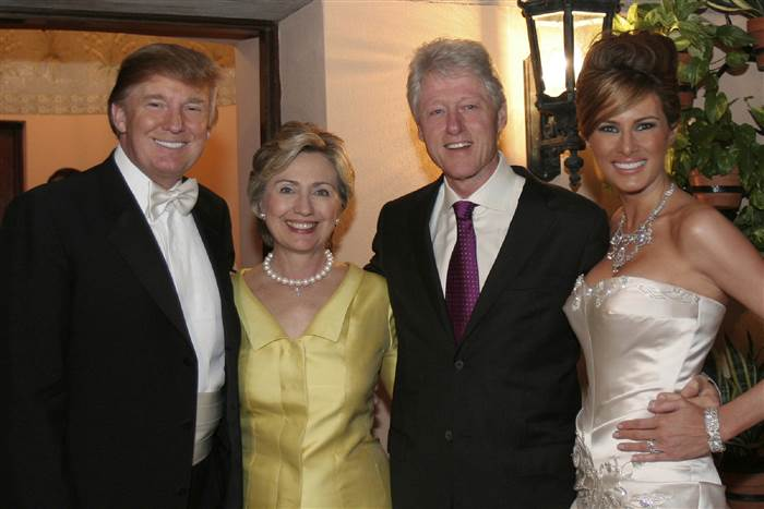 Trump and Clinton used to be friends