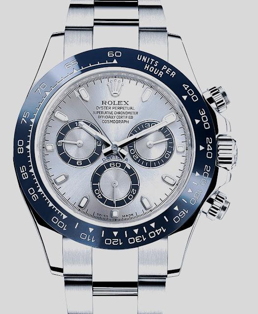"""أفضل ساعة رولكس رجالية """"Cosmograph Daytona Ice Blue Dial"""""""