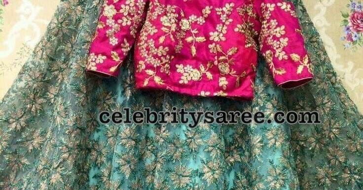 93706eeb2421fc Net Weave Fancy Crop Top - Saree Blouse Patterns