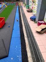 人工草皮進場施工