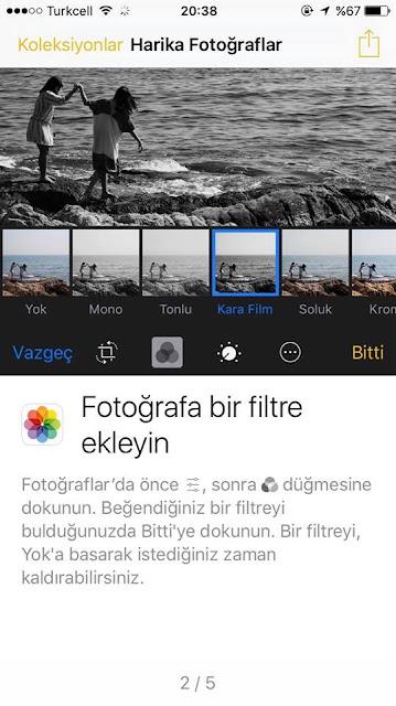 iPhone 7 ile resimlerinize yeni filtreler ekleyebilirsiniz