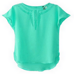 shortsleeves blouse in spanish