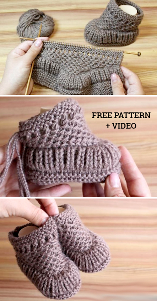 Warm Baby Booties - Free Pattern & Tutorial
