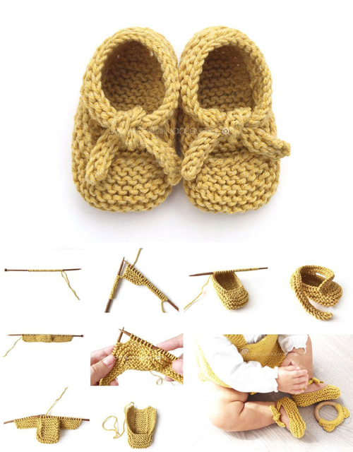 Baby Ballerina Booties - Easy Pattern & Tutorial