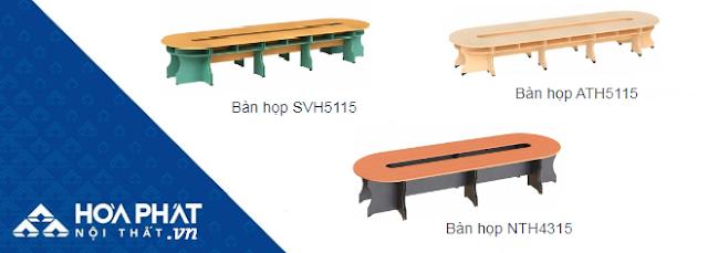 3 mẫu bàn họp Oval của Hòa Phát