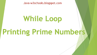 While Loop Print Prime Numbers In Java