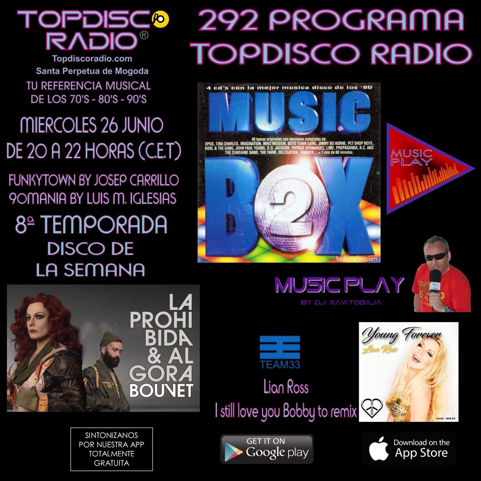 292 Programa Topdisco Radio