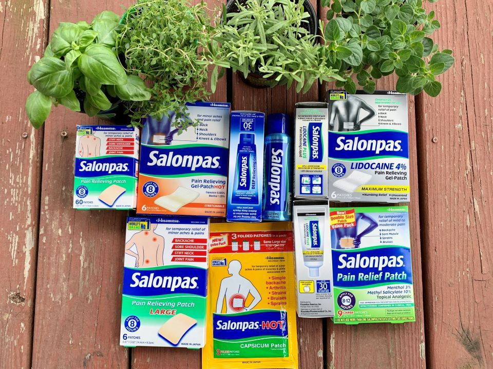 The full line of Salonpas products
