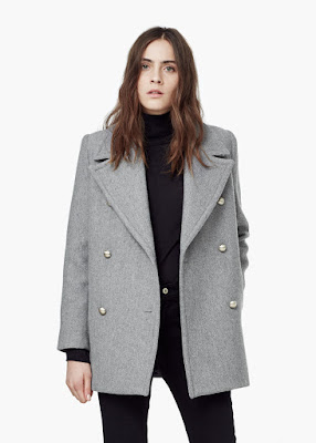 Mango Double Breasted Coat